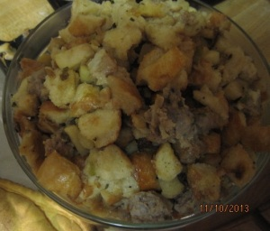... Without Stuffing? Apple, Sage and Sausage Stuffing   onedadskitchen