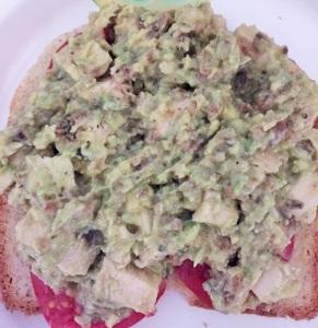 chickenavocadosaladsandwich